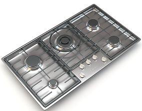 Miele 5-Burner KM 2355 G Gas Cooktop 3D model