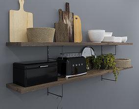 3D Kitchen set 4 mirror