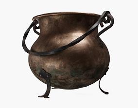 Copper cauldron 3D asset