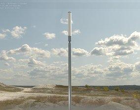 Street Light 10 Galvanized 600mm 3D asset