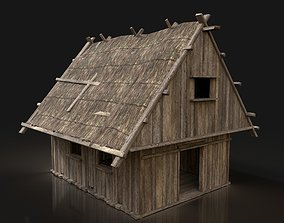 Next Gen AAA Simple Thatched Hut Cottage House 3D model 1