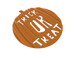3D printable model Drink coaster - Trick Or Treat