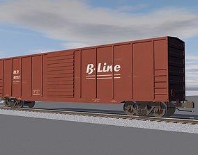 Train Car - Boxcar - Railroad Cargo 3D model