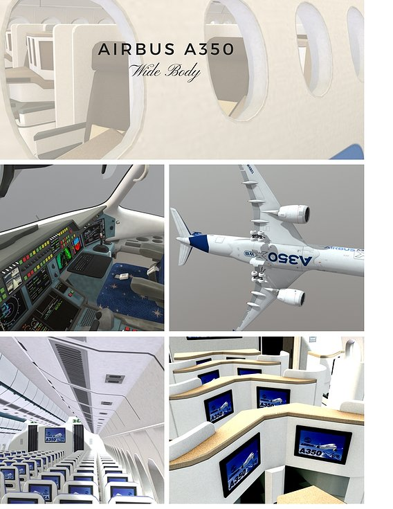 Airbus A350 with full interior. Now on sale!