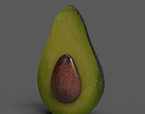 Avocado Half 3D asset