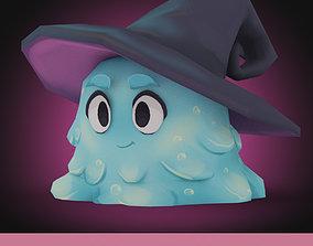 3D asset Wizard Slime