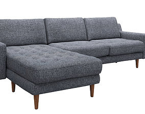 soft 3D model Corner sofa Modsy for 3 seat by Normod