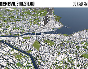 switzerland 3D Geneva Switzerland