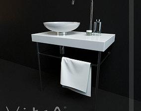 3D model Washbasin Vitra High Q