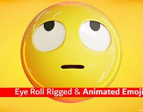 Roll Eyes Animated Emoji Reaction 3D model