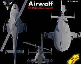 3D printable model Airwolf Bell 222 Replica