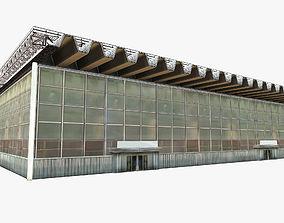 Industrial Station Building 3D model