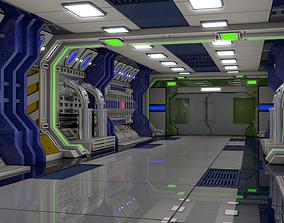 Sci Fi Interior 3D robot