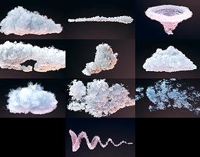 3D model VDB Clouds Pack 10 Items