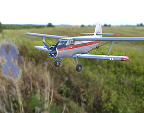3D model Antonov An-2 Mid poly