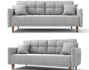 Sofa - bed Tadeush gray velor by Hoff 3D model