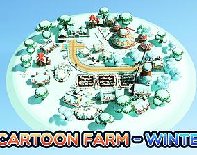 3D asset animated Cartoon Farm - Winter