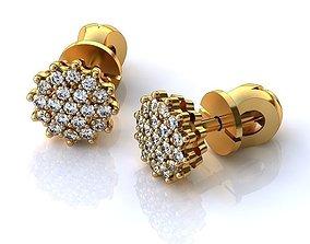 3D print model Golden Earrings BS042