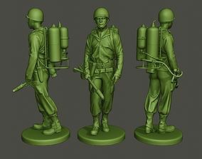 3D print model American soldier ww2 walk A6