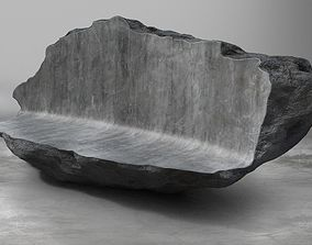 VR / AR ready Rock Stone Obelisk Sofa Couch 3D Model
