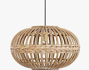 Eglo wicker rattan Hanging lamp 3D model
