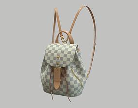 Louis Vuitton Sperone BB Backpack Damier Azur 3D asset