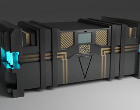 Sci-Fi Box 3D asset low-poly