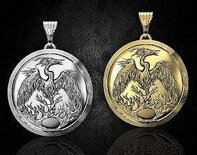 jewelry 3D print model Phoenix pendant