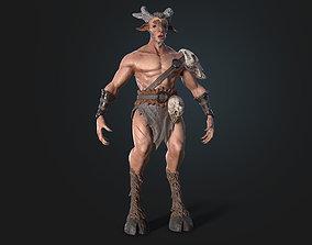 VR / AR ready Faun 3D model Character