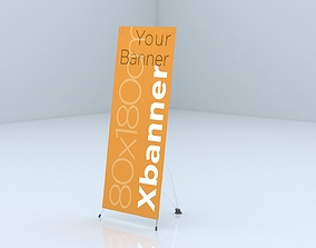 3D model X Banner Stand