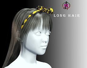 Active Outdoor Hairstyles - Long Hair 3D model