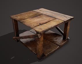 Barn Wood Table 3D model