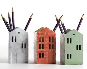 House Pencil Holders 3D