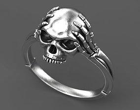 3D print model Skull and bone ring