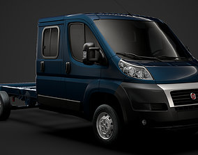 3D model Fiat Ducato Chassis Truck Crew Cab 4035WB 2014