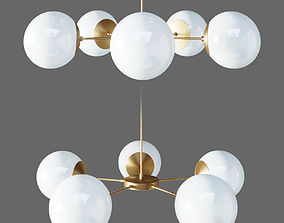 SUSPENDED LAMP COPPER LIGHT LIGHT 5 3D model