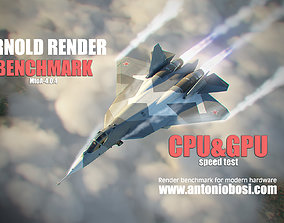 Arnold Render Speed CPU and GPU Speed Benchmark 3D model 1