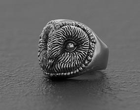 3d Barn owl ring 3D print model