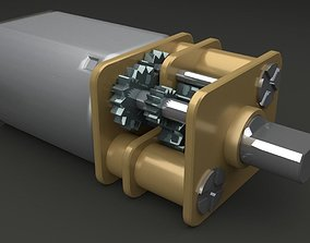 Electric motor with reducer 3D model