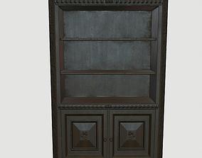 3D asset VR / AR ready Bookcase vintage
