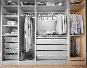 3D model Wardrobe with Clothes part D