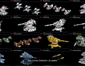 Scifi Turrets Collection 3D model PBR