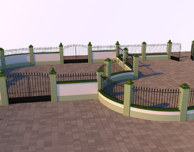 3D model Modular fences gates and walls