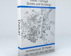 3D Dakar Streets and Buildings