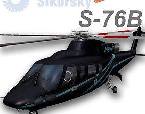 3D model Sikorsky S-76B N19HF HeliFlite