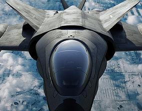 scifi interceptor aircraft 3D asset
