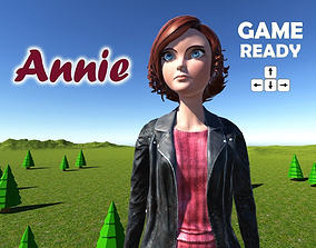 Annie cartoon 3D model