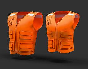 reflective vest 3D model