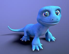 cartoon lizard 3D asset