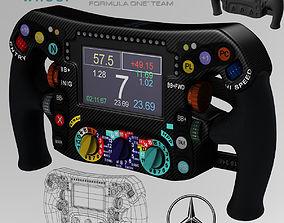 Mercedes W06 Steering wheel 3D model